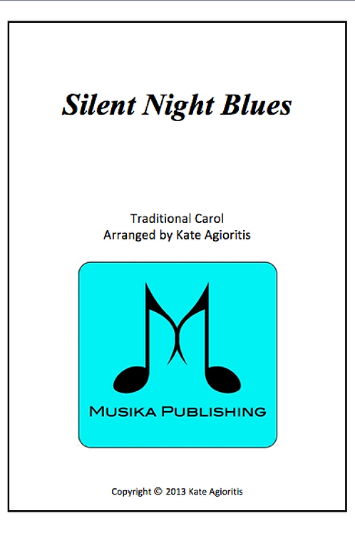 Silent Night Blues - Saxophone Quartet