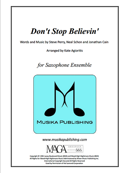 Don't Stop Believin' - Saxophone Ensemble