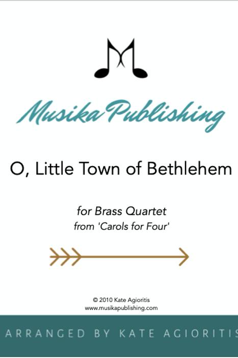 O Little Town of Bethlehem - Brass Quartet