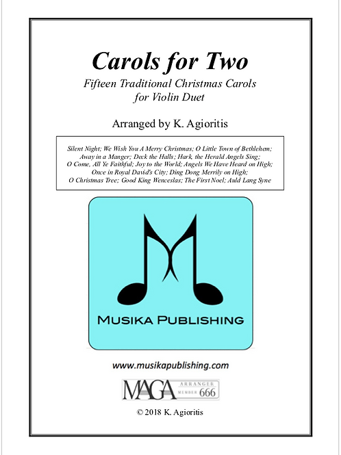 Carols for Two - Fifteen Carols for Violin Duet