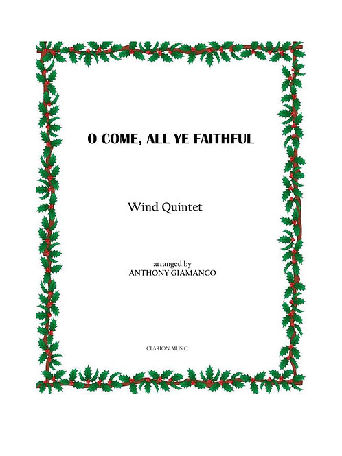 O Come All Ye Faithful - Wind Quintet