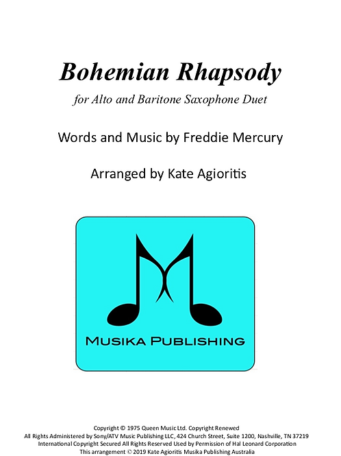 Bohemian Rhapsody (Queen) - Alto/Baritone Saxophone Duet