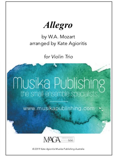 Allegro - Mozart - Violin Trio