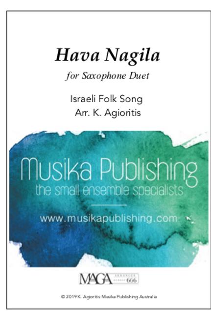 Hava Nagila - Saxophone Duet (2 Like Saxes)