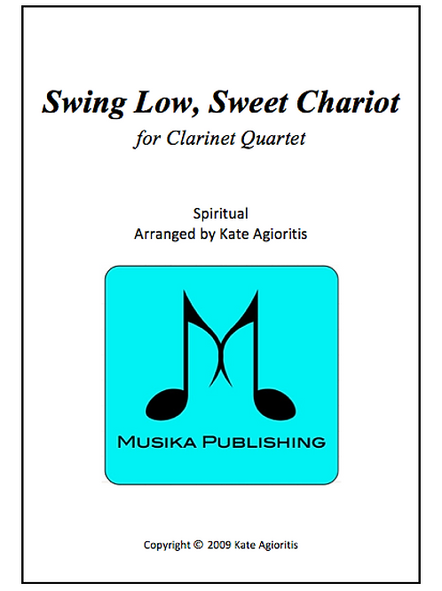 Swing Low Sweet Chariot (Jazz) - Clarinet Quartet
