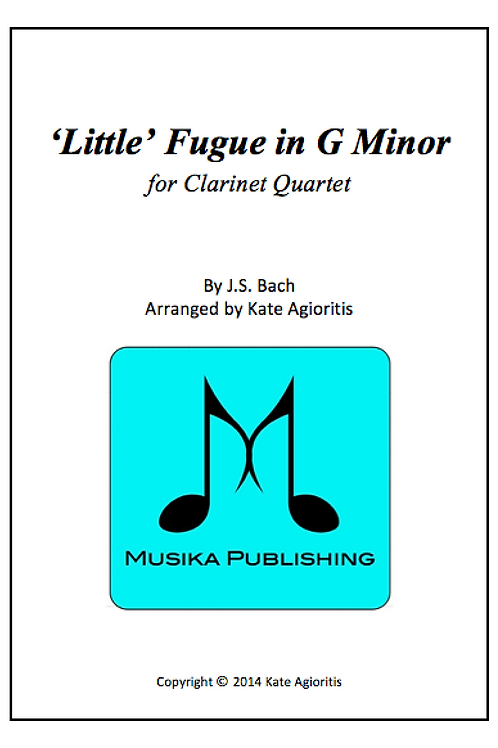 'Little' Fugue in G Minor (JS Bach) - Clarinet Quartet