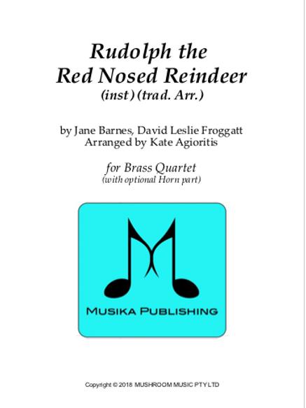 Rudolph the Red Nosed Reindeer - Brass Quartet