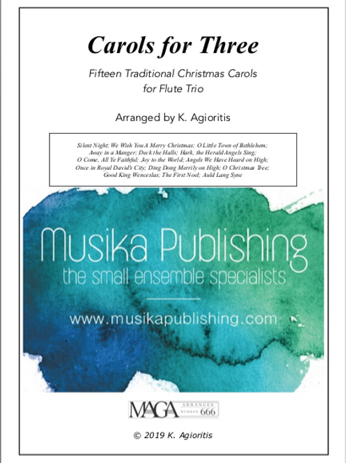 Carols for Three - 15 Traditional Carols for Flute Trio