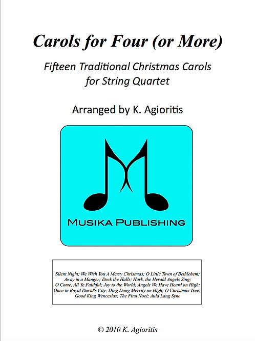 Carols for Four (or more) - String Quartet