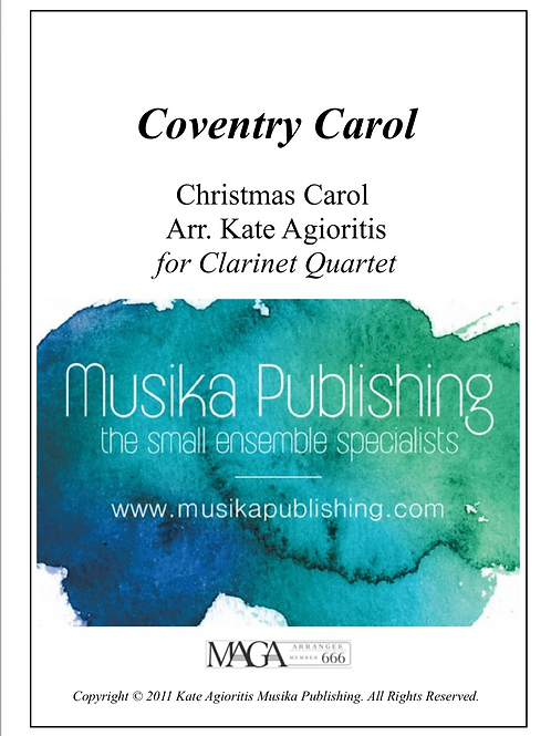 Coventry Carol - Clarinet Quartet