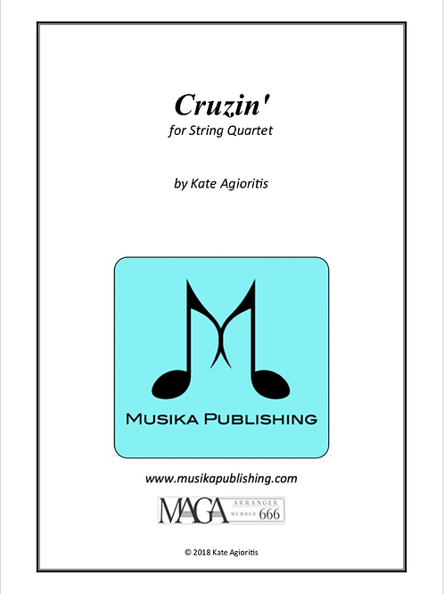 Cruzin' - for String Quartet