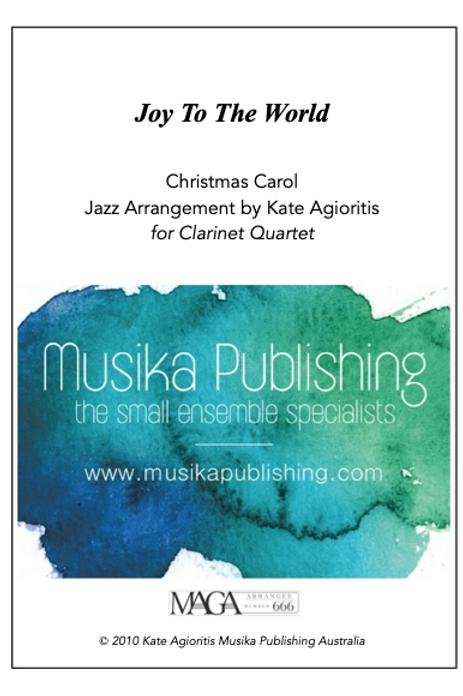 Joy to the World - Jazz Arrangement - Clarinet Quartet