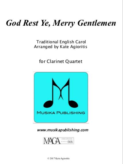 God Rest Ye Merry Gentlemen - Clarinet Quartet