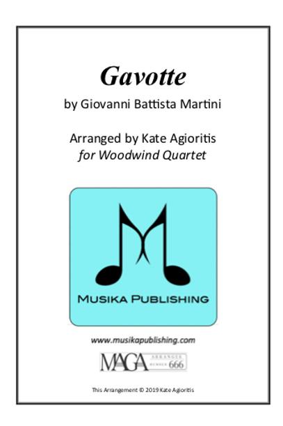 Gavotte - Woodwind Quartet