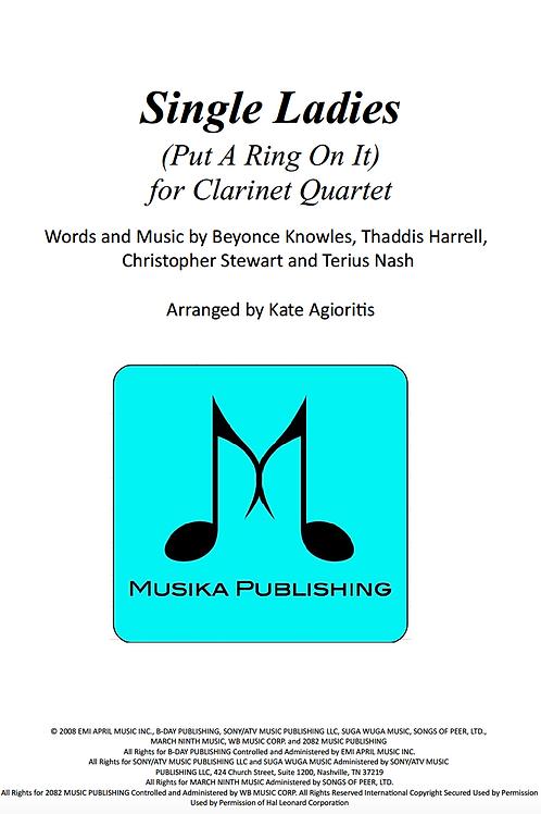 Single Ladies (Put a Ring on it) - Clarinet Quartet