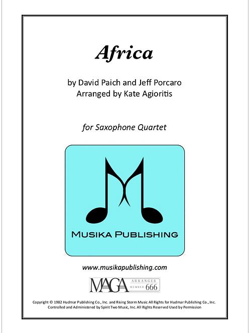 Africa - for Saxophone Quartet