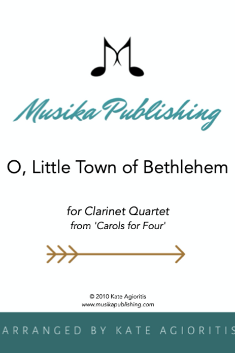 O Little Town of Bethlehem - Clarinet Quartet