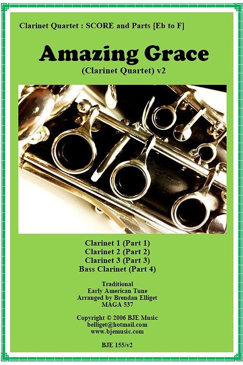 Amazing Grace - Clarinet Quartet