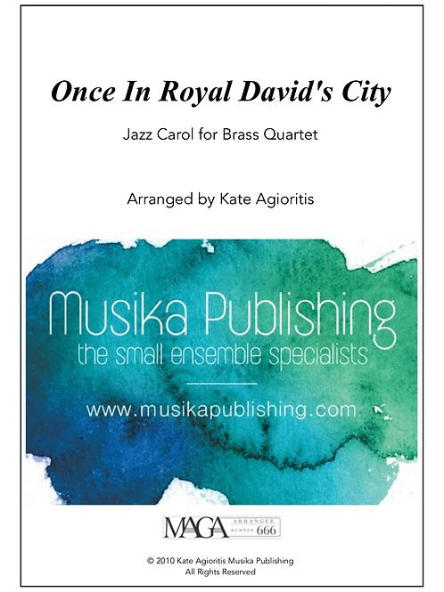 Once in Royal David's City - Brass Quartet