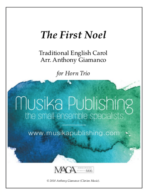 The First Nowell (Noel) - Horn Trio