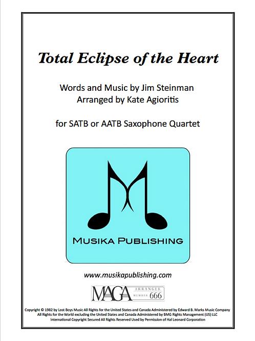 Total Eclipse of the Heart - Saxophone Quartet
