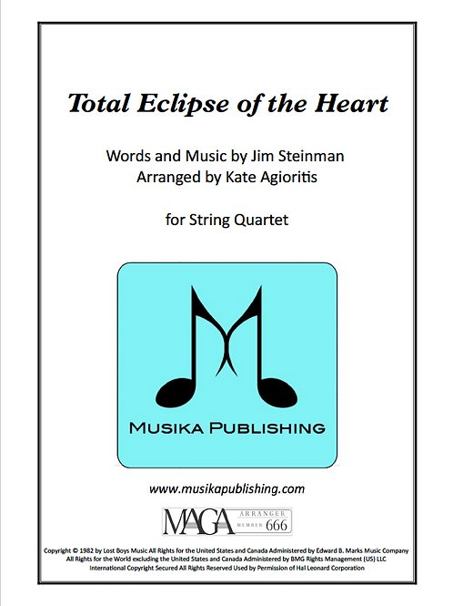 Total Eclipse of the Heart - String Quartet
