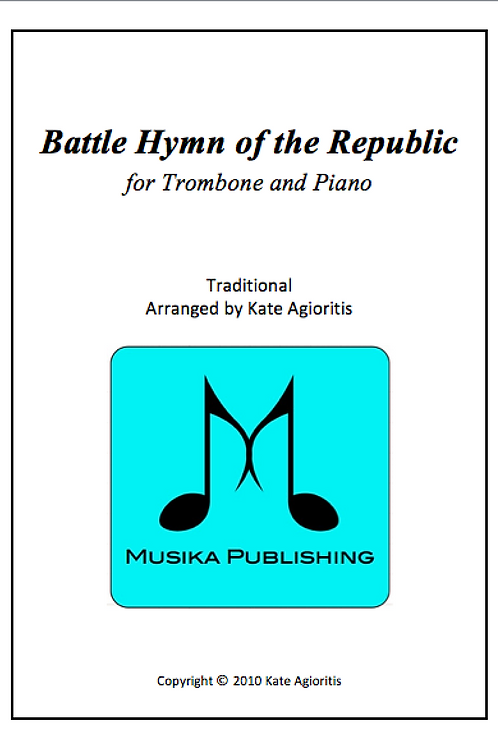 Battle Hymn of the Republic (Jazz) - Trombone and Piano