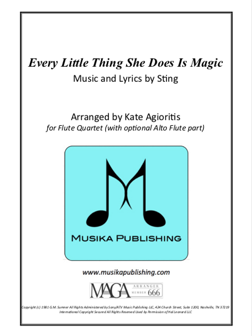 Every Little Thing She Does Is Magic - Flute Quartet