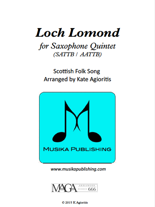 Loch Lomond - for Saxophone Ensemble