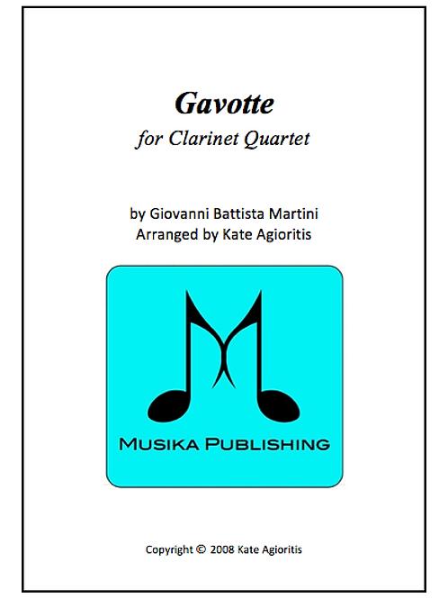 Gavotte - Clarinet Quartet
