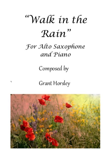 Walk in the Rain - for Alto Saxophone and Piano