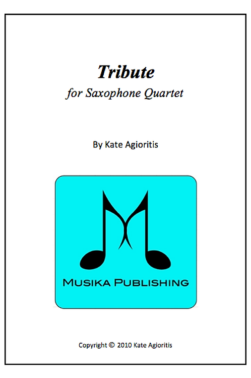 Tribute - Saxophone Quartet