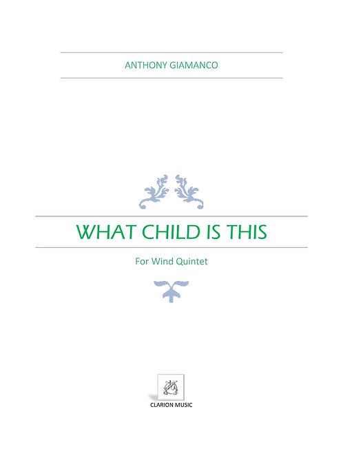 What Child Is This - Wind Quintet