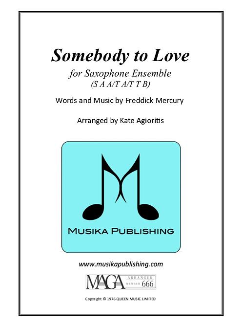 Somebody to Love (Queen) - Saxophone Ensemble