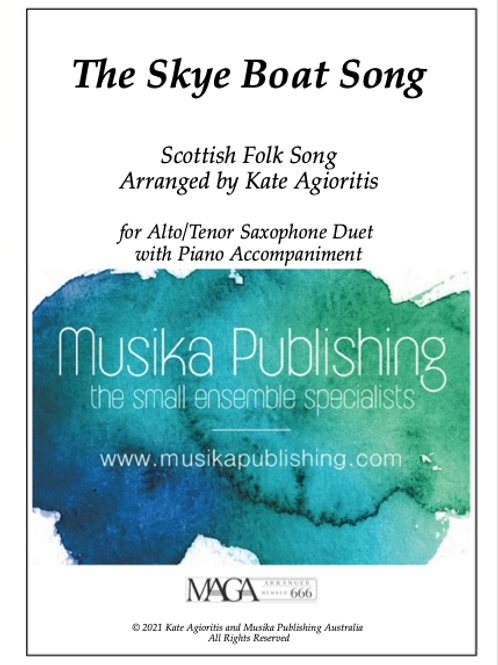 The Skye Boat Song - Alto/Tenor Saxophone Duet with Piano Accompaniment