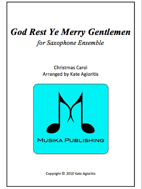 God Rest Ye Merry Gentlemen - Saxophone Ensemble