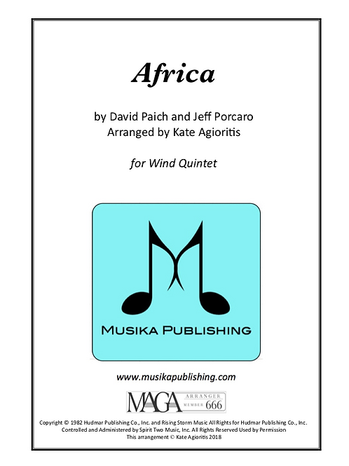 Africa - for Wind Quintet