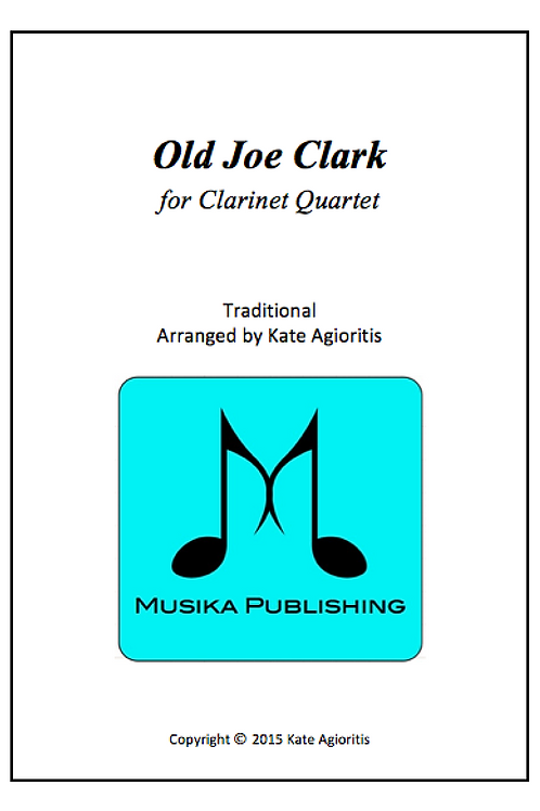 Old Joe Clark - Clarinet Quartet