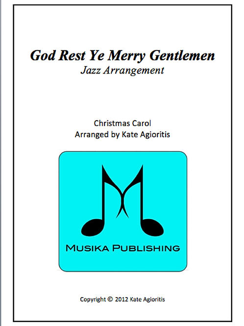 God Rest Ye Merry Gentlemen (Jazz) - String Quartet