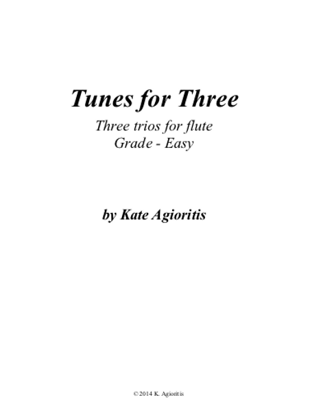 Tunes for Three - Three Easy Trios for Flute