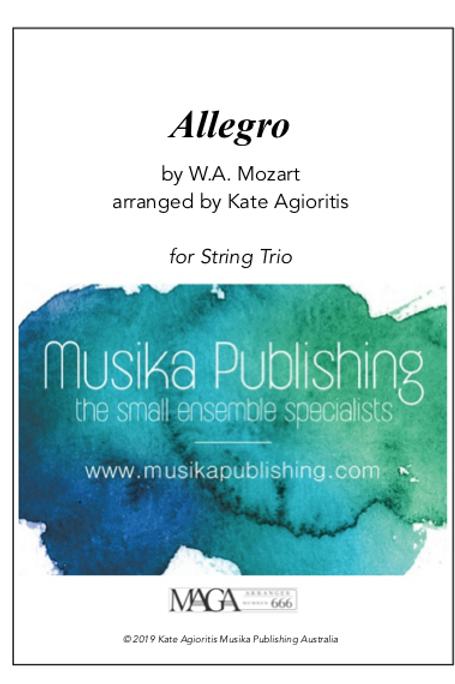 Allegro - Mozart - String Trio