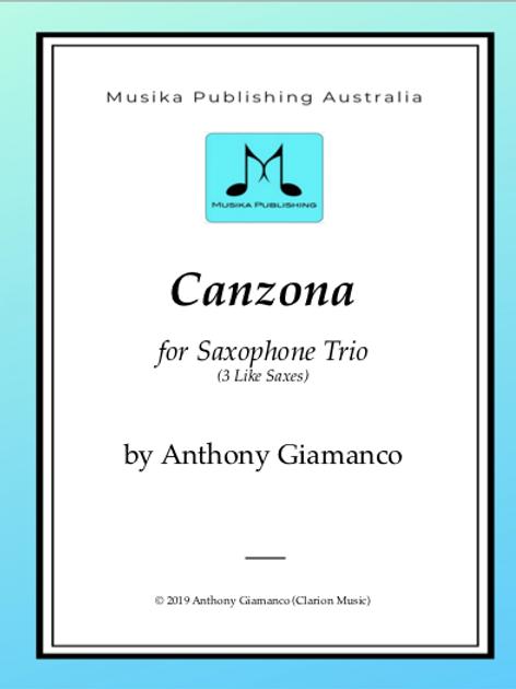 Canzona - Saxophone Trio