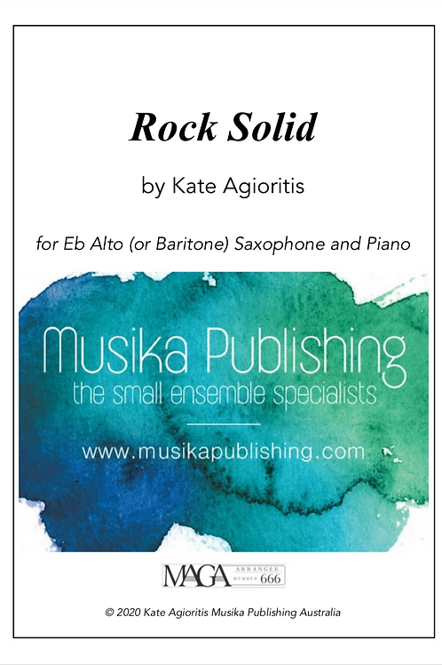 Rock Solid - Alto (or Bari) Saxophone and Piano