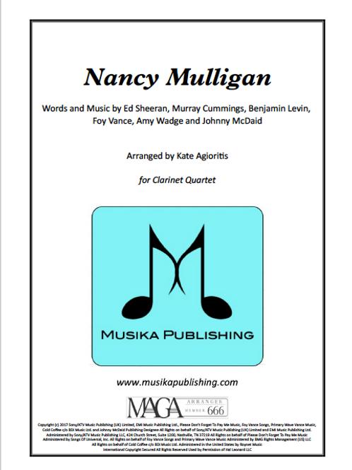 Nancy Mulligan (Ed Sheeran) - Clarinet Quartet