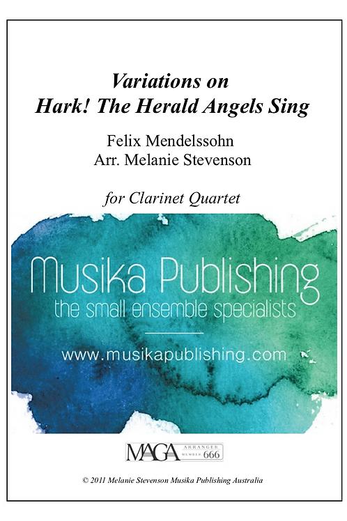 Variations on Hark! The Herald Angels Sing - Clarinet Quartet