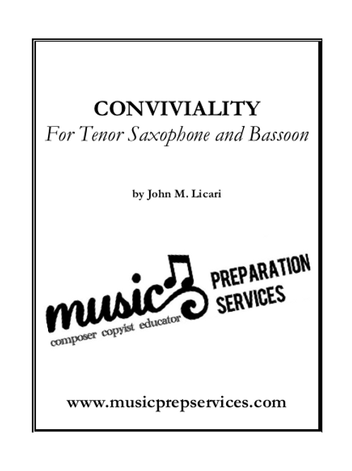 Conviviality - Duet for Tenor Saxophone and Basson