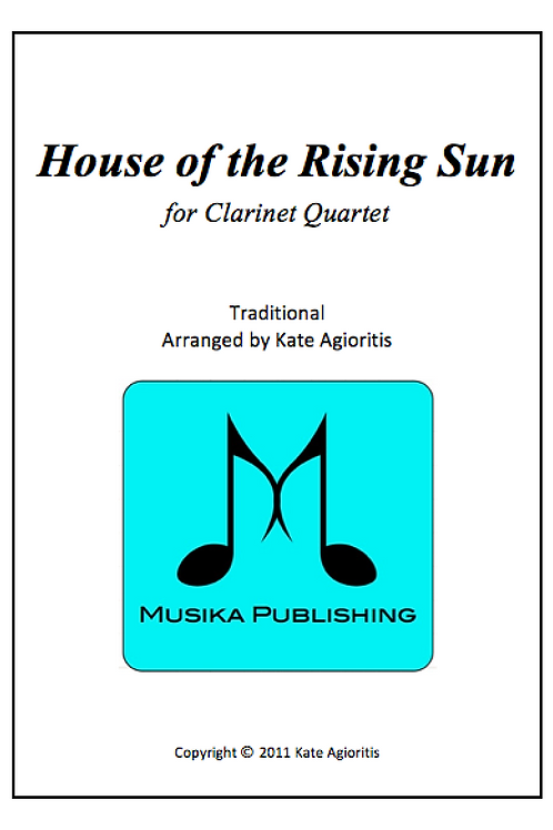 House of the Rising Sun - Clarinet Quartet