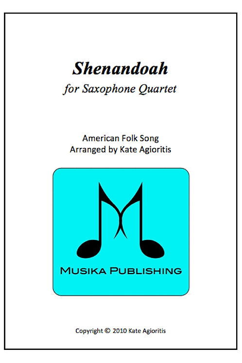 Shenandoah - Saxophone Quartet