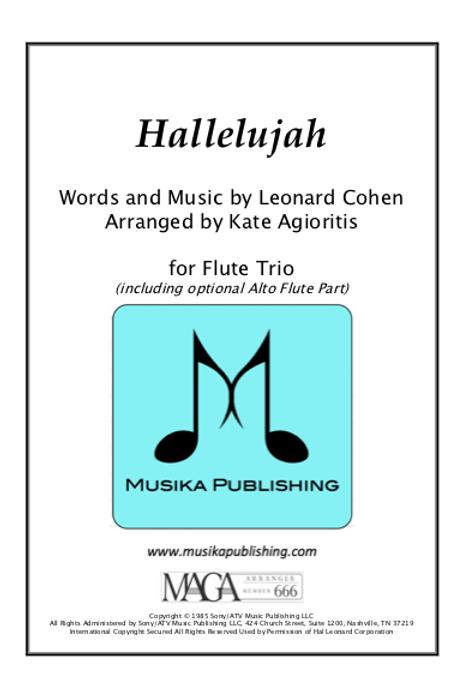 Hallelujah - Flute Trio