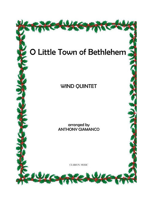 O Little Town Of Bethlehem - Wind Quintet